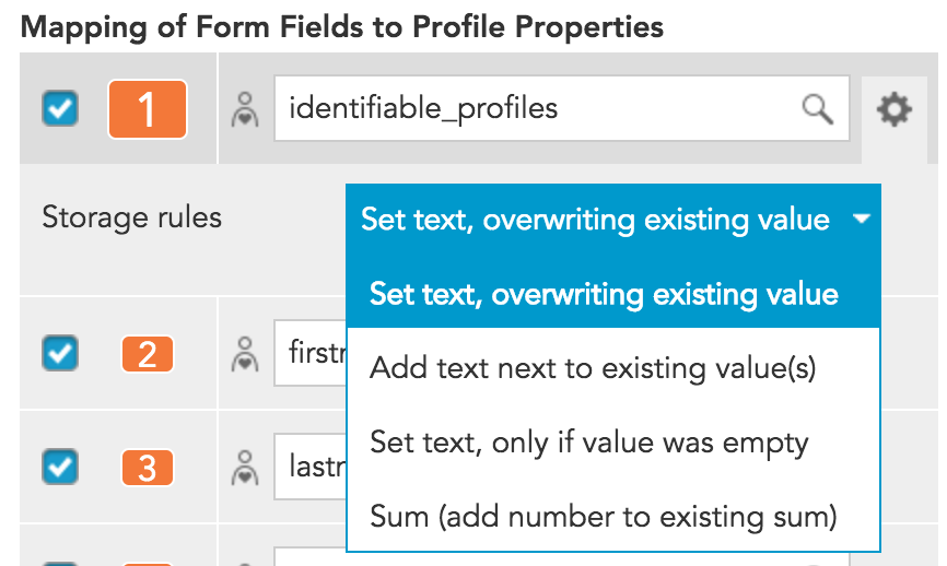 How to collect data from a form submitted in BlueConic