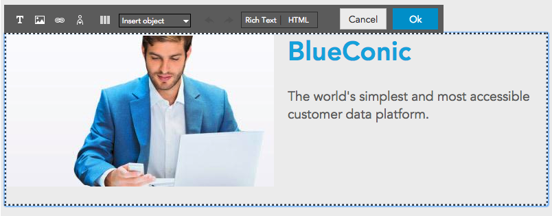 How to use the BlueConic content editor in the customer data platform