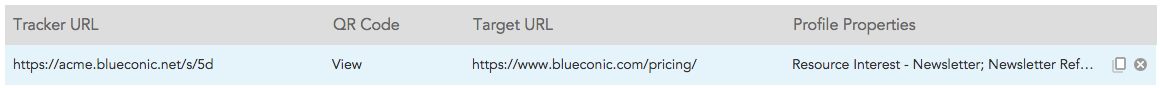 How do I generate tracking pixels and tracking URLs in BlueConic?