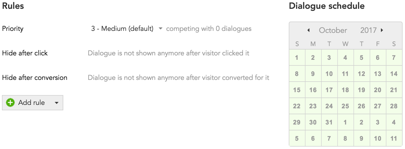 How to hide or show content based on customer conversion in BlueConic dialogues