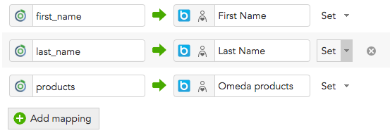 How to map customer profile data between BlueConic and Omeda