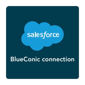 How do I exchange customer data between Salesforce and the BlueConic customer data platform?