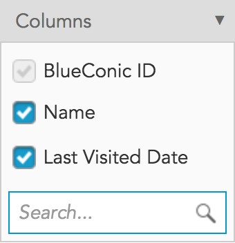 How can I customize the display of all my customer profiles in a table in BlueConic?