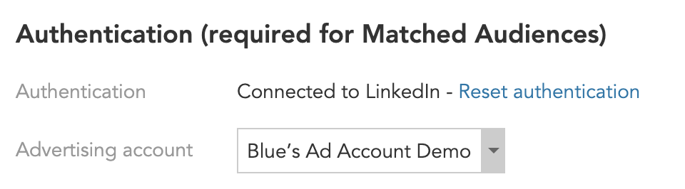 How to link accounts between BlueConic and LinkedIn