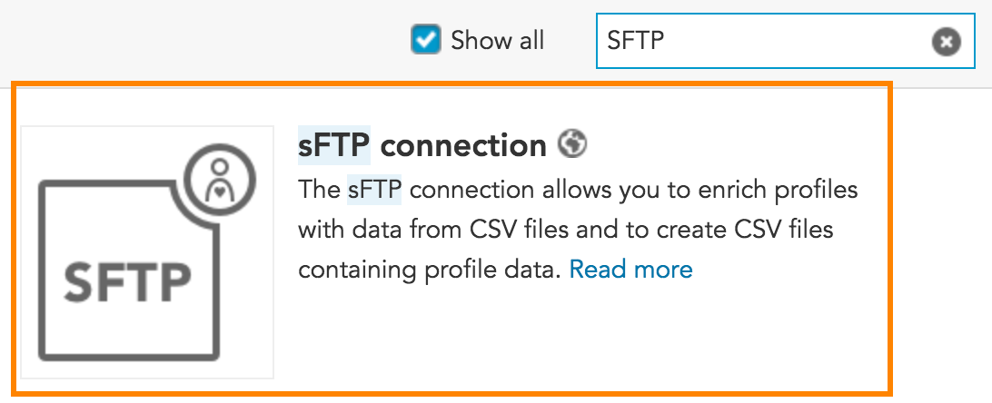 How do I create an SFTP Connection to exchange customer marketing and CSV data with BlueConic?