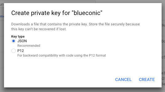 How to set up a connection between Google BigQuery and the BlueConic customer data platform