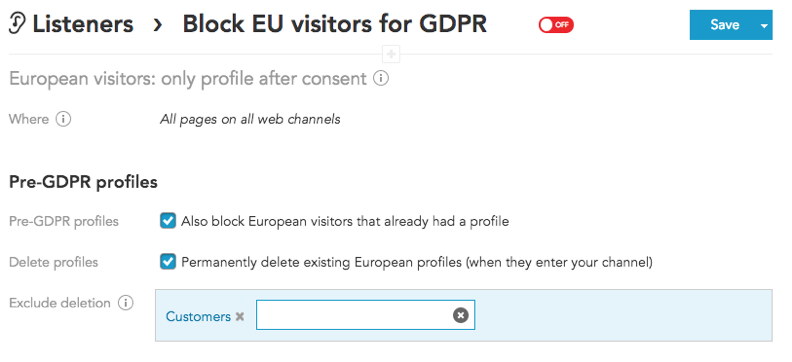 How to manage EU privacy laws and GDPR compliance using BlueConic marketing customer data platform