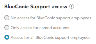 BlueConic customer data platform security and access control