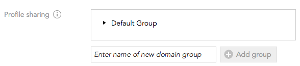 How do I set up privacy for domain groups in BlueConic