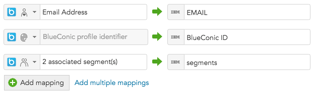 How to map customer data between IBM Marketing Cloud Silverpop and BlueConic