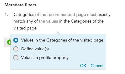 How do I apply personalization using metadata filters to BlueConic recommendation sets?