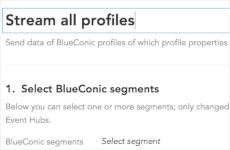 How do I customize a firehose event stream between BlueConic and cloud software providers?