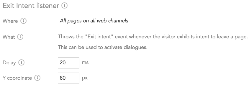 How to prevent customers from leaving the page using an Exit Intent Listener in BlueConic