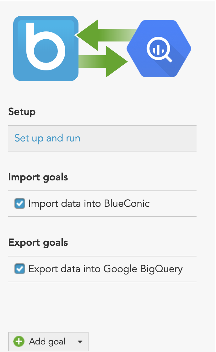 How to import and export Google BigQuery customer data to the BlueConic customer data platform