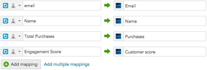 How to add customer data mappings between BlueConic and Mixpanel