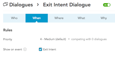 How to create and configure an Exit Intent Listener in the BlueConic CDP