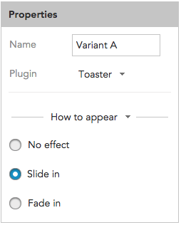 How to specify Toaster style and appearance in BlueConic