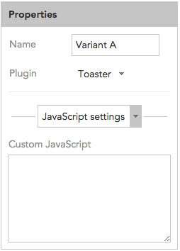 How to use custom JavaScript in the BlueConic Toaster window