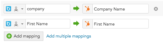 How to map BlueConic profile data to customer data in HubSpot