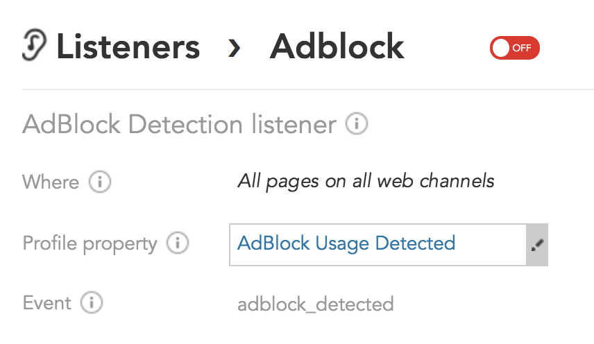 How to configure the Ad Block Detection Listener in BlueConic to detect ad blockers and adblockers