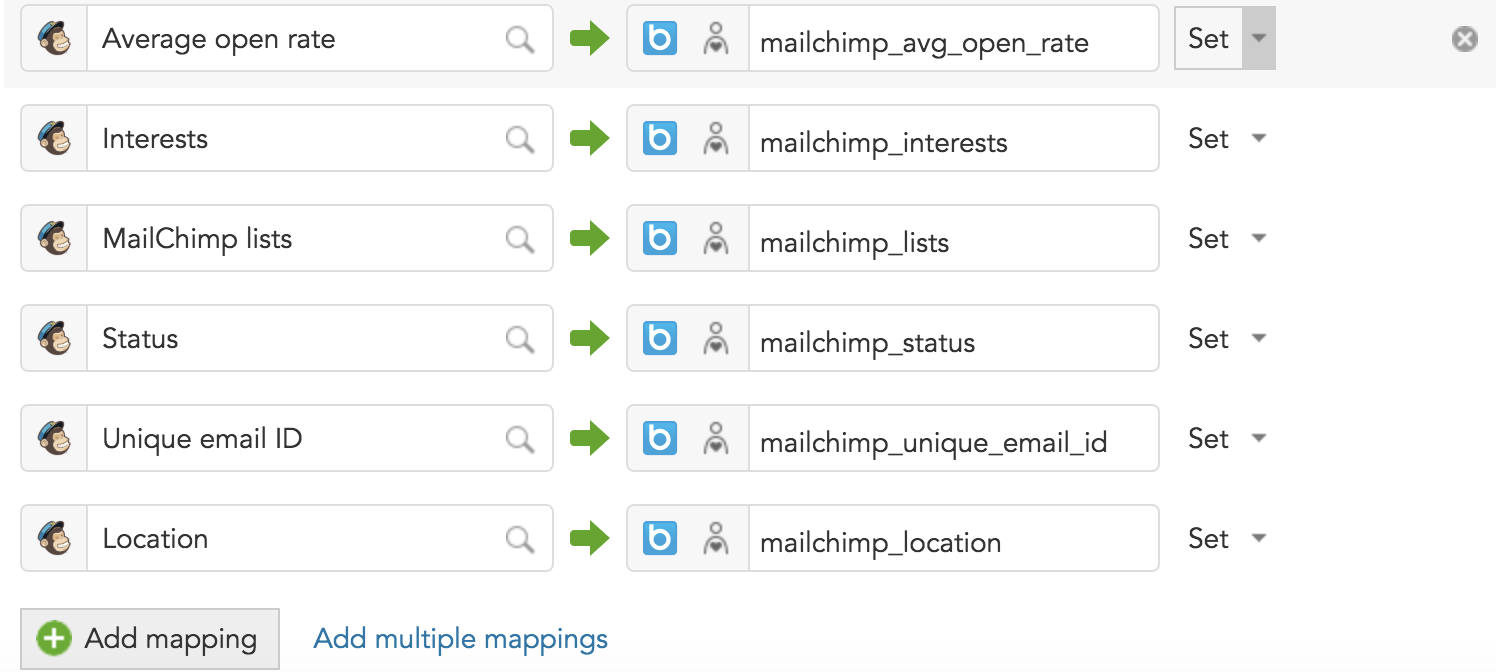 How to map Mailchimp audience data to BlueConic profiles using the Mailchimp Connection