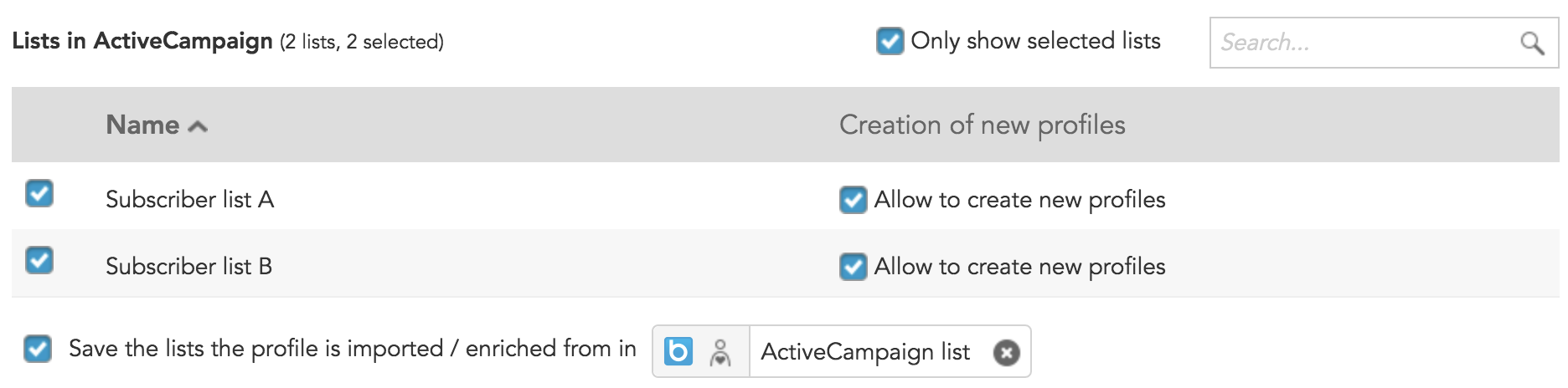 How to configure the ActiveCampaign connection in BlueConic