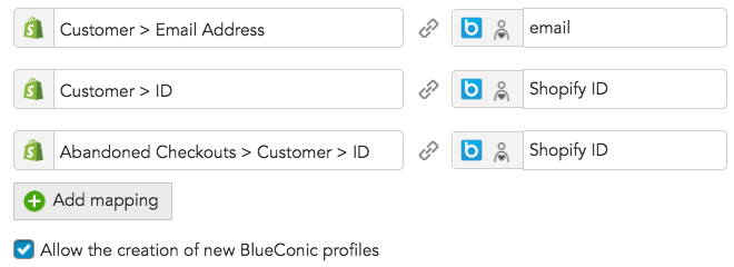 How to import customer profile data between Shopify and BlueConic