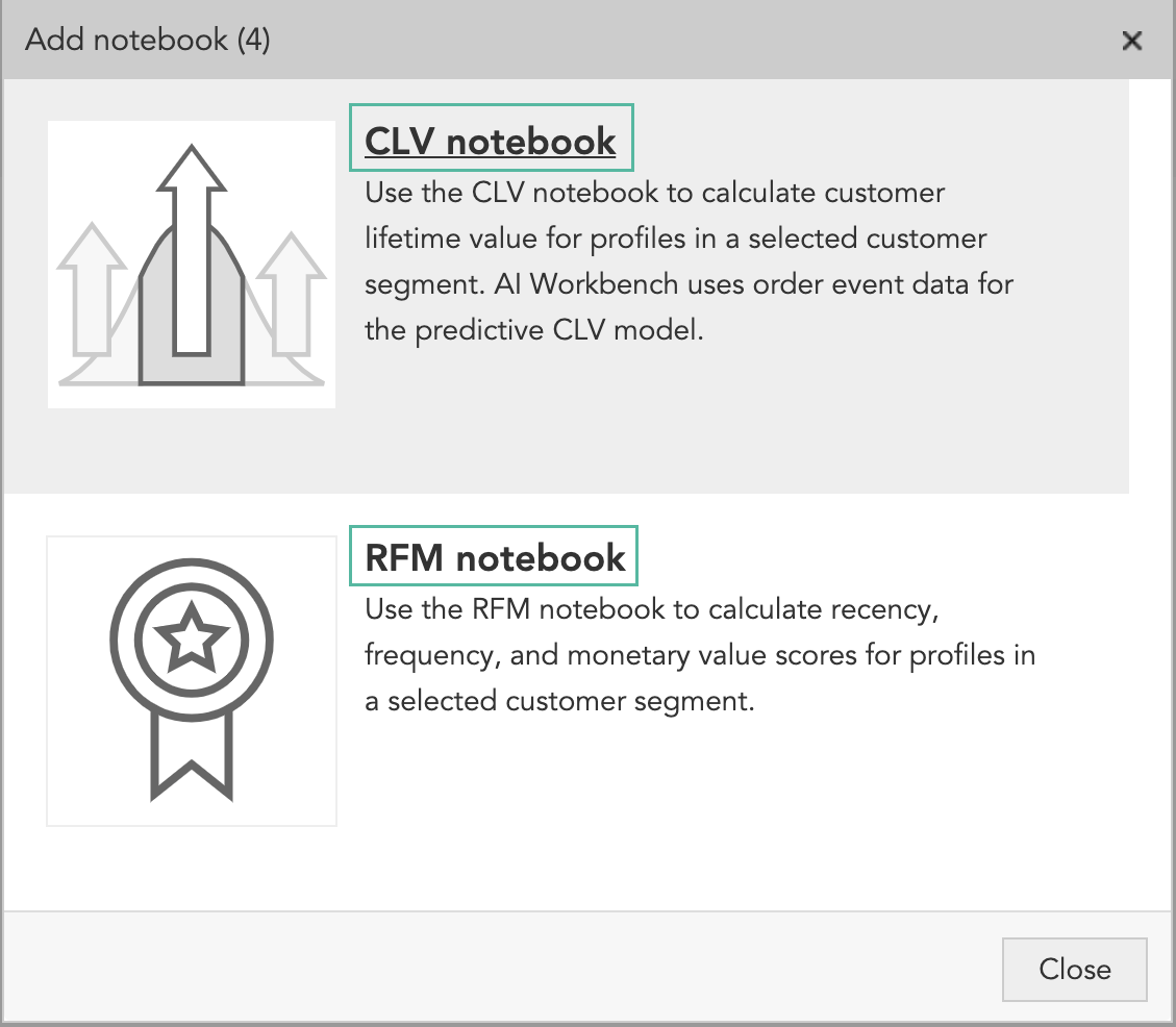 How do I calculate CLV and RFM for marketing with AI marketing and machine learning marketing models in the BlueConic CDP customer data platform?