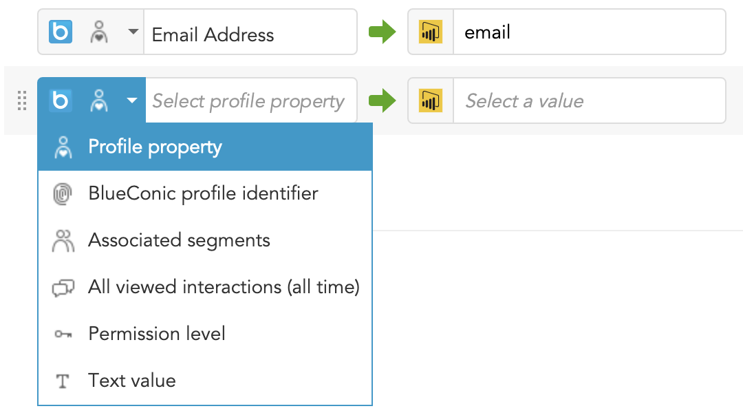 How to export BlueConic customer profile data to Power BI for analysis and reporting