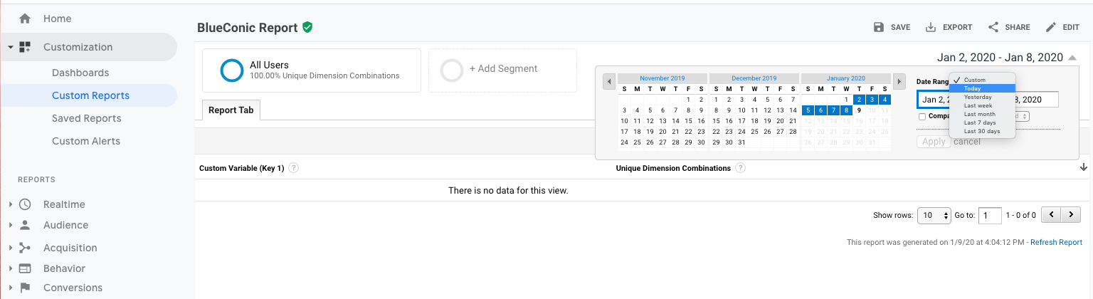 How to configure Google Analytics to exchange customer data with the BlueConic customer data platform