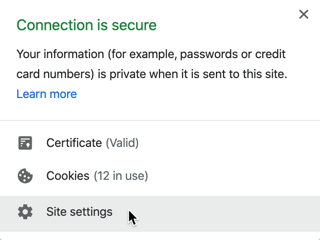How do I edit Chrome's site settings to allow or enable insecure content?
