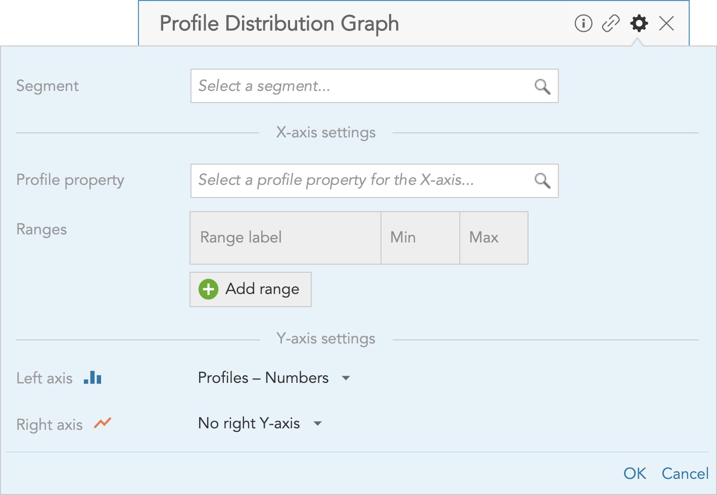 How to set up the Profile Distribution Graph insight in BlueConic to measure and visualize customer order and transaction data