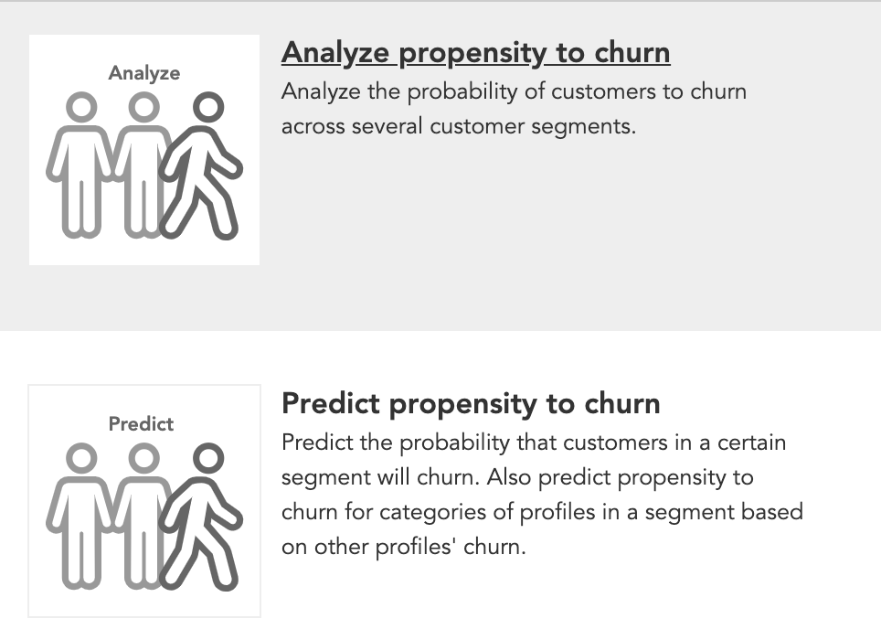 How to predict and analyze customer churn or customer attrition using AI marketing models in BlueConic CDP
