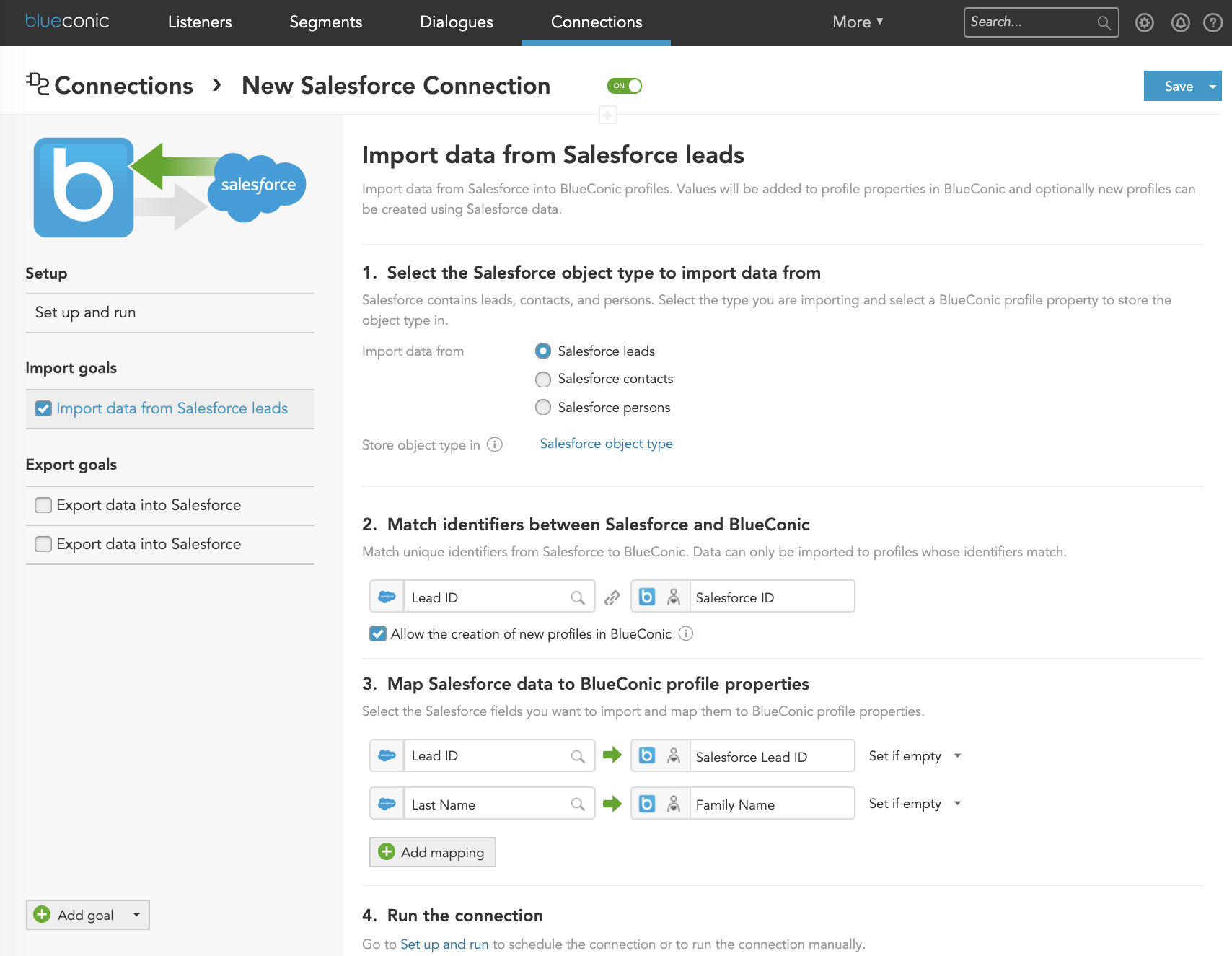 How to use the BlueConic CDP to unify customer profiles with Salesforce data
