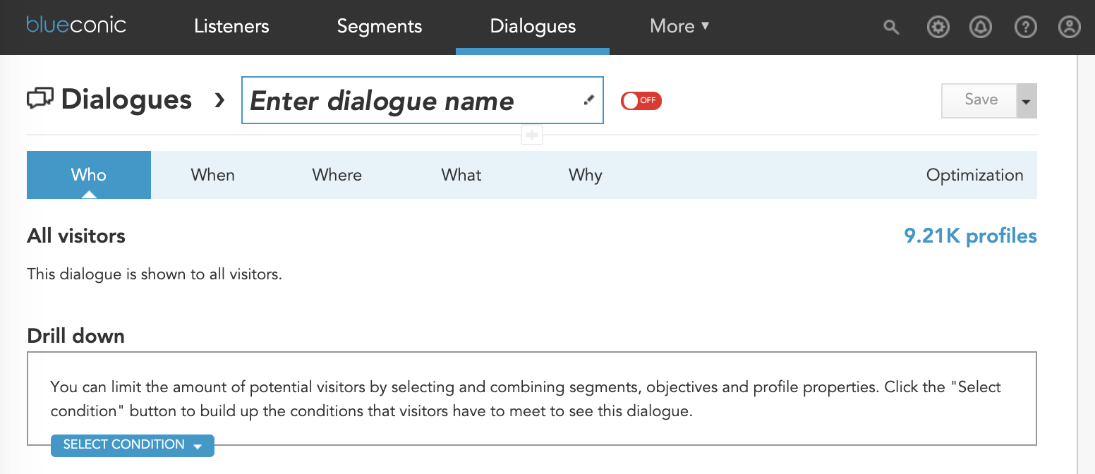 Demo: How to create a dialogue for custom content in the BlueConic customer data platform