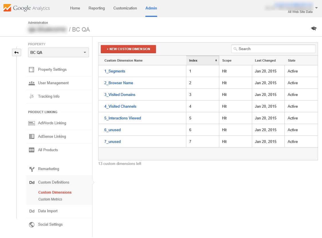How to use the Google Analytics connection in BlueConic to exchange google analytics marketing metrics with BlueConic