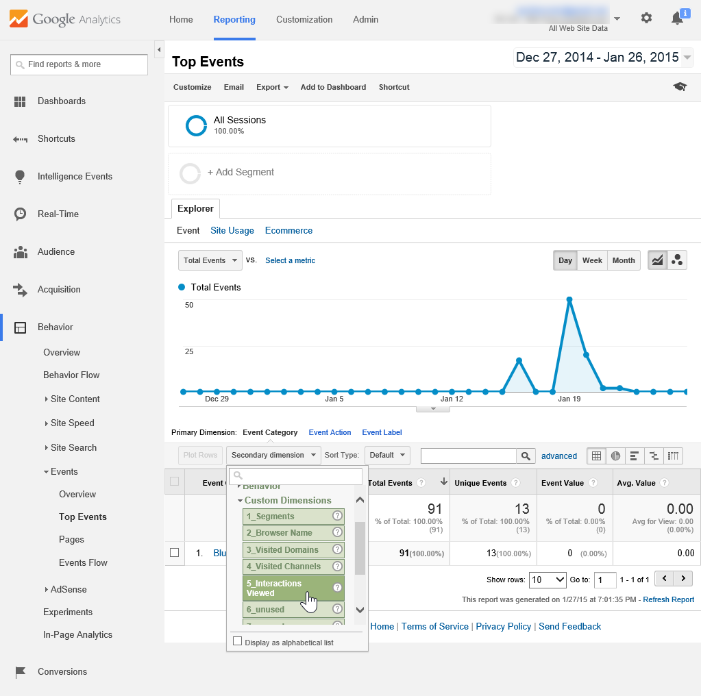 How to use custom dimensions to exchange data between Google Analytics and BlueConic with the Google Analytics Connection