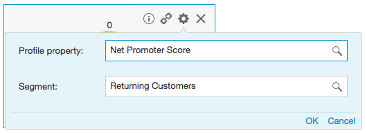 how do I set up a report on NPS net promoter score for the BlueConic customer data platform? CDP