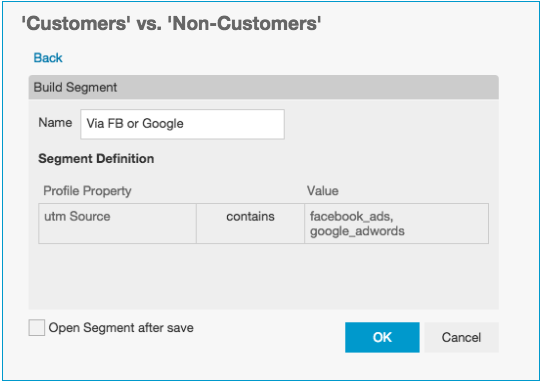 How to create or build new dynamic customer segments using the Segment Builder view in BlueConic