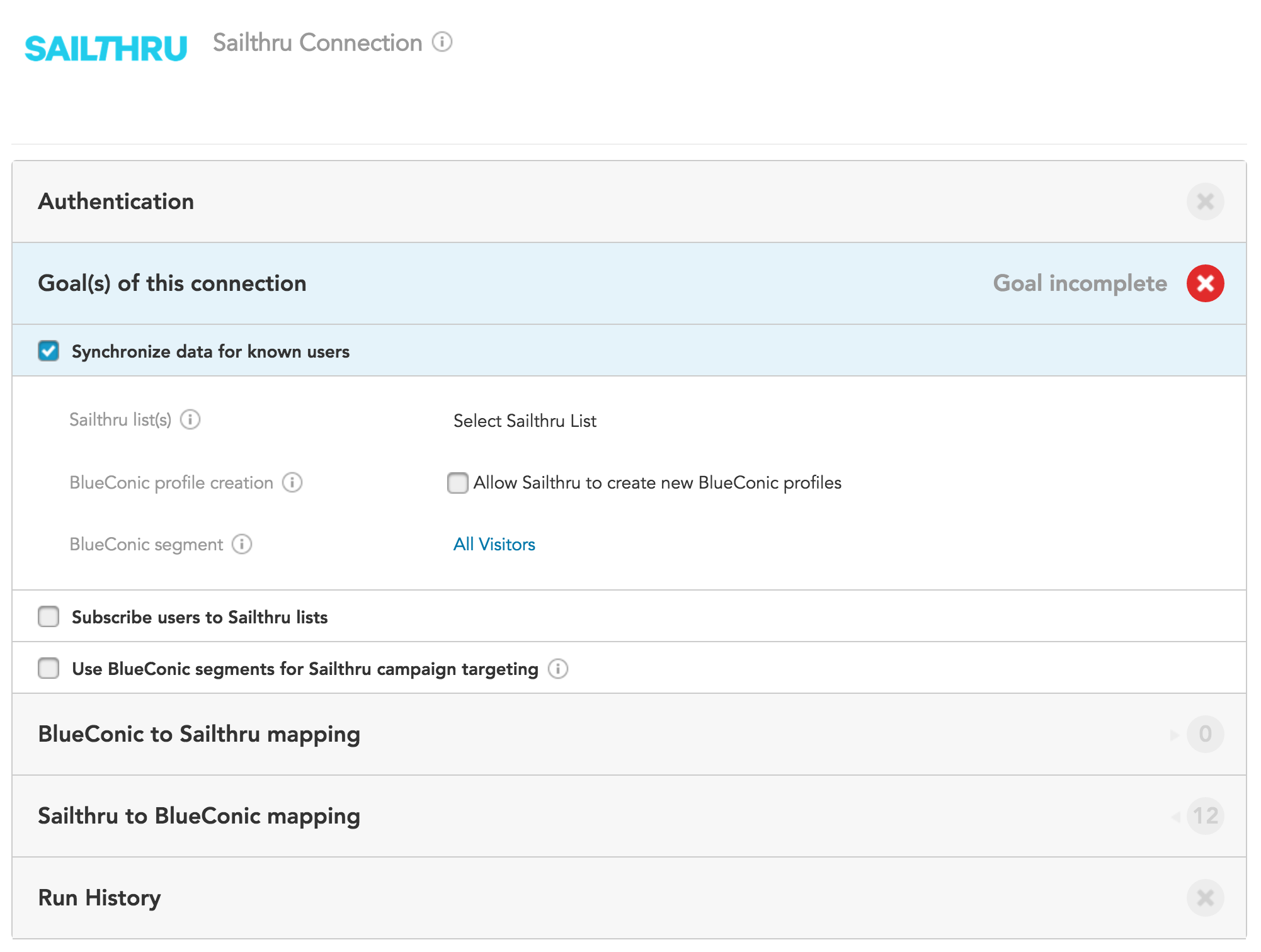 How do I use Mailchimp Connection, Sailthru Connection, and Salesforce Connection with the BlueConic CDP?