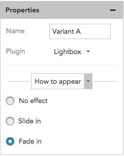 How to edit the appearance settings for a lightbox content overlay in BlueConic
